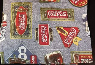 NEW Coca Cola Pillow Sham Fabric