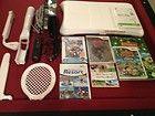 Nintendo Wii Black Console (NTSC) Bundle/WiiFit/Games