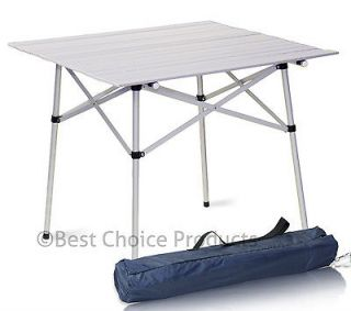 Aluminum Roll Up Table Folding Camping Outdoor Indoor Picnic Table