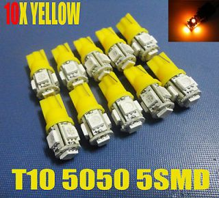 10X Amber T10 5 SMD 168 194 555 906 Car LED Step Lamp Courtesy Lights