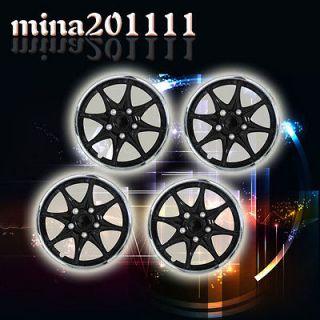 Set of 4 16 Black Chrome Wheel Covers Hubcaps Center Hub Caps Rim
