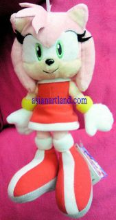 22 cm New Sonic The Hedgehog Amy Rose Plush Doll 2012