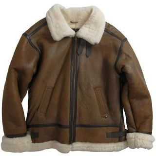 ALPHA INDUSTRIES BOMBER JACKET SHEARLING LEATHER XS,S,L,XL,2XL,3XL,4XL