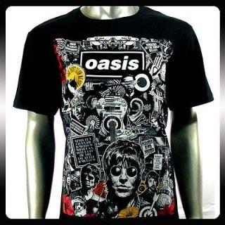 Oasis Alternative Rock Band Music Punk T shirt Sz L Men OA5