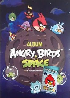 ANGRY BIRDS SPACE STICKER COLLECTION ALBUM + BONUS PACK OF TRADING