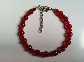 Anorexia (Ana) Support Red Bracelet  Cherries Jubilee, Lobster Clasp w