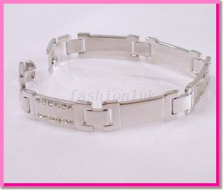 Real White Gold Plated Men Women Watch Bracelet Birthday Xmas