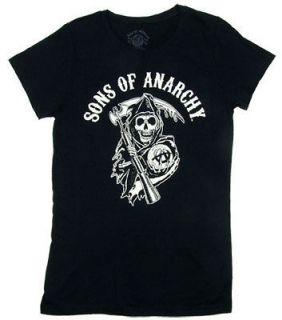 Reaper   Sons Of Anarchy Sheer Junior Womens T shirt