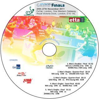 2011 Pro Tour Finals Table Tennis DVD  NEW RELEASE