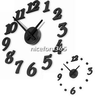 Clock Adhesive DIY Modern House Decoration Wall Digital Clock N4U8