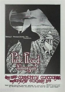 PINK FLOYD Roger Waters David Gilmour Concert Poster San Diego 1971