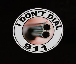 DONT DIAL 911 DECAL Colt 9mm Combat Commander Series 70