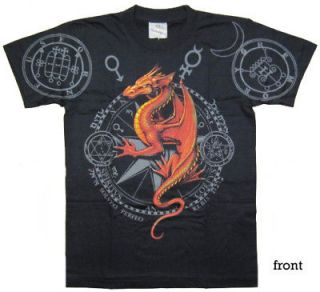 RED FIRE DRAGON Rock Eagle Discharge T Shirt D45 New Size M