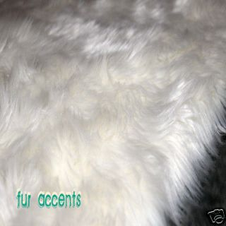 WHITE OR IVORY POLAR BEAR FAUX FUR RUG SHEEPSKIN PELT RUGS 5X6 LINED
