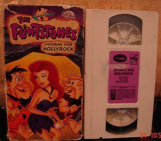 Hanna Barberas The Flintstones HOORAY FOR HOLLYROCK Vhs Video RARE