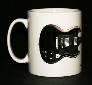 Guitar Mug. Angus Youngs Gibson SG illustration.