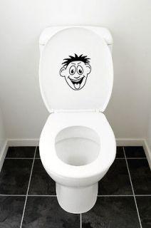 Bathroom Toilet Seat Vinyl Wall Art Decal Sticker Mural Funny Smiley