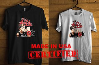 Machine Gun Kelly MGK Lace Up Black / White T Shirt Bad Boy clothing S