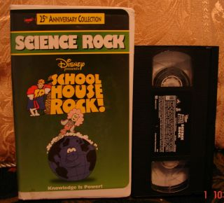 SchoolHouse SCIENCE ROCK 25th Anniversary School House VHS Educational