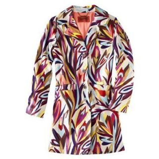 NEW Missoni for Target   Womens Floral Colore Trench Coat Jacket  XS