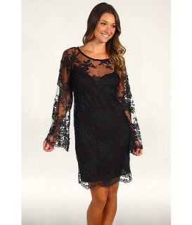 NWT Nicole Miller Lace Overlay Lace Dress size S Grey $430 *Stunning*