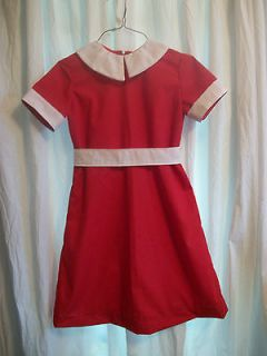 ORPHAN ANNIE RED DRESS/COSTUME   SZ  7  NEW