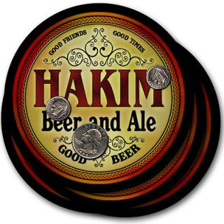 Hakim s Beer & Ale Coasters   4 Pack