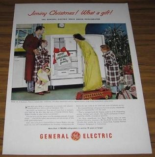 1948 VINTAGE AD~GE GENERAL ELECTRIC MODEL NF 8 REFRIGERATORS