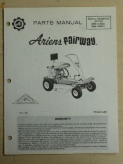 ARIENS FAIRWAY SN# 12M4 016601 12M5 008501 PARTS MANUAL PM 5