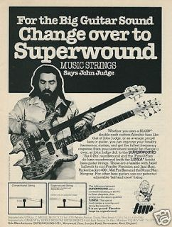 1980 SUPERWOUND Strings John Judge Photo Double Neck Alembic Bass