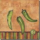 Mullen Pepper Southwest Art Ceramic Tile Mural Backsplash 12.75 x 12