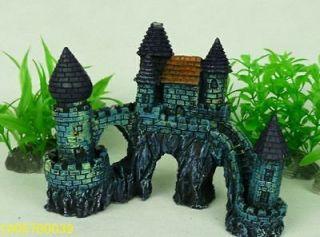 fish tank aquarium decoration, resin castle large Ornaments 15*6.5