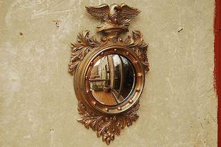 Federal Eagle Large Wall Mirror Convex Bullseye Fish Eye Mid Century