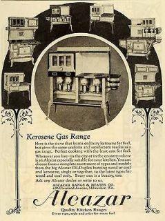 Kerosene Gas Range Alcazar Kitchen Appliances Oil Duplex Wood Burning