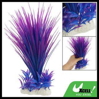 Fish Tank Aquarium Standing Plastic Plant Purple Blue