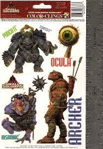 Small Soldiers Archer & Gorgonites Window Clings