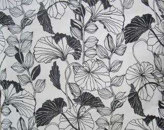 ASHFORD HOUSE BLACK & WHITE LARGE FLOWERS & LEAVES wallpaper DOUBLE