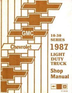 1987 Chevrolet GMC Truck Van Blazer Suburban Chassis Shop Service