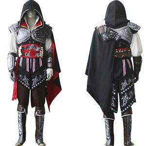 Assassins Creed 2 II Ezio Black Cosplay Costume