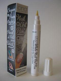 Cina Professional Salon Nail Art Pen .16oz   WHITE   IN BOX   MADE
