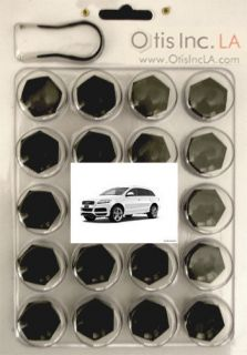 99 9999 B Q7 BLACK lug bolt covers AUDI Q7 wheels FREE SHIPPING in the