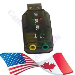 Newly listed USB SOUND CARD AUDIO ADAPTER FOR DESKTOP LAPTOP NOTEBOOK
