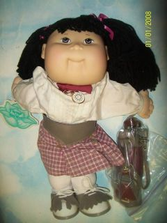 CABBAGE PATCH KIDS DOLL GOLFER VHTF LQQKE WITH CLUBS AND BAG ASIAN