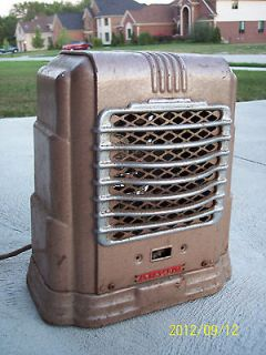 Vintage Arvin Electric Space Heater Art Deco Design Antique Chrome