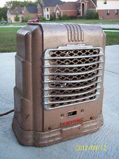 Vintage Arvin Electric Space Heater Art Deco Design Antique Chrome