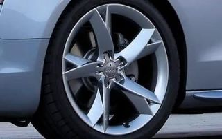 18 A5 Wheels Hyper Silver Rims Fits Some Volkswagen Audi 5x112 +45mm