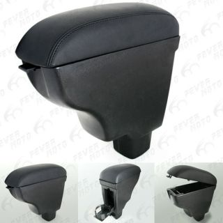 LEATHERETTE CENTER CONSOLE ARMREST STORAGE FOR SUZUKI SX4 2006 09