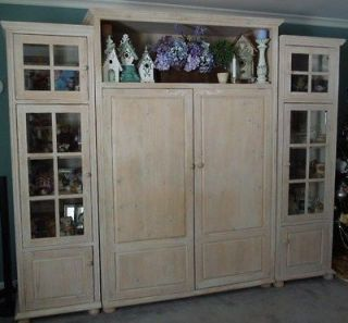 Wood Entertainment Wall Unit furniture for TV (tv, etc. not included