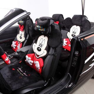 Winter Cushion Cartoon Car Seat Mickey Mouse Cover Seat Saddle Covers