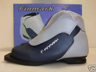 Finmark 3 pin 75mm cross country ski boots US 10  43 NIB EU size